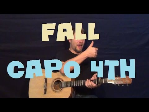 Fall Acoustic Justin Bieber Easy Guitar Lesson Strum Fingerstyle