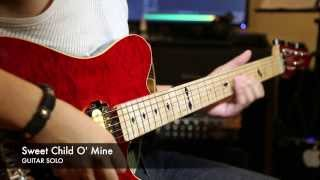 Sweet Child O' Mine (Guns N' Roses) - Main solo cover (with TAB) - HD 1080p