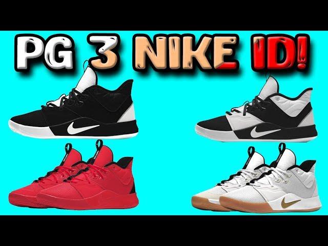 Designing the Nike PG 3 on NIKE ID
