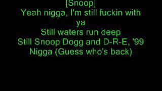 Gambar cover Dr. Dre ft. Snoop Dogg - Still D.R.E. lyrics (original uncensored)