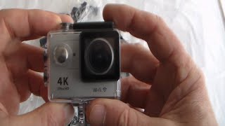 Unboxing + Using Eken H9R  good budget 4K/1080 action camera + remote + test clips