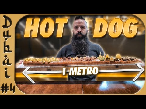 ¡¡UN HOT DOG DE UN METRO!! El reto de comida más duro de DUBAI