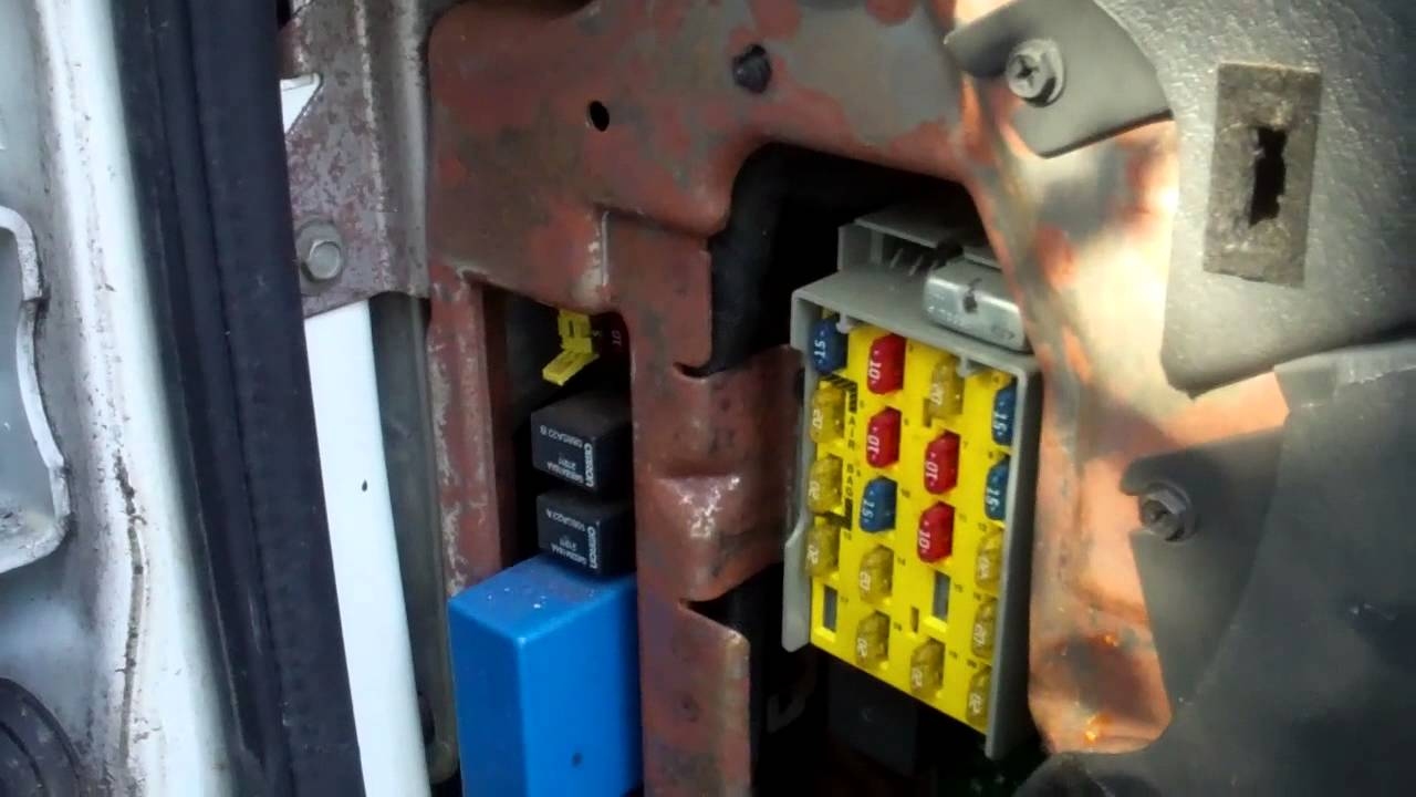 How To Remove Fuse Box Cover From Dodge Ram Van  YouTube