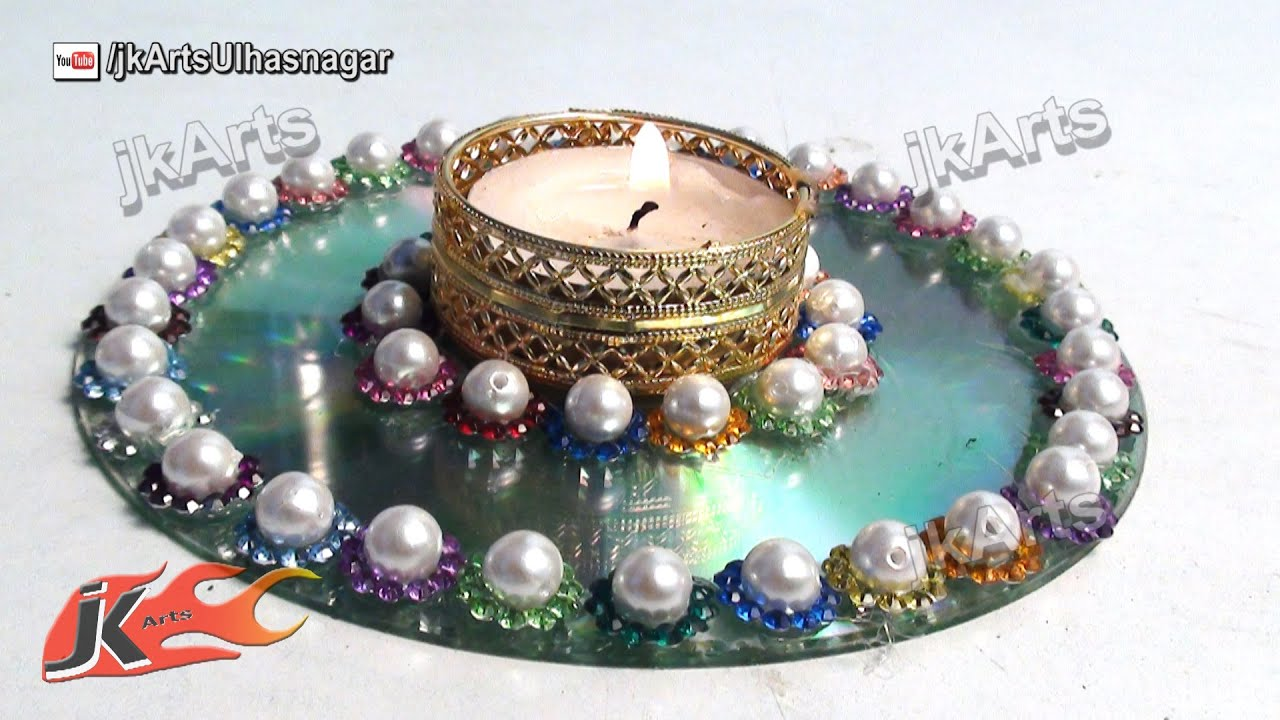 How to make candle holder best out of waste from dvd for What is best out of waste