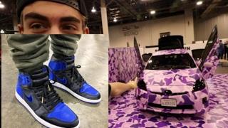 1 of 1 sample jordan 1s and another bape car