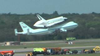 Space Shuttle Enterprise departing Dulles IAD on 4/27/12