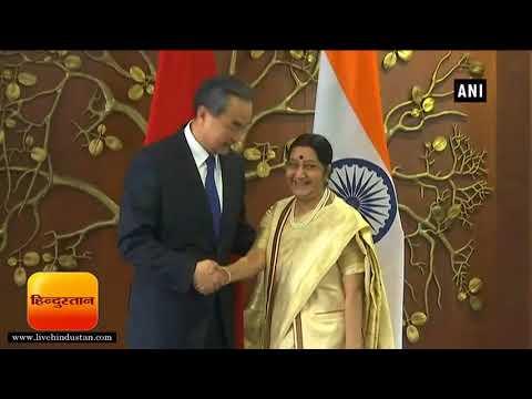 चीन के विदेश मंत्री से सुषमा की मीटिंग II Chinese Foreign Minister Wang Yi meets Sushma Swaraj