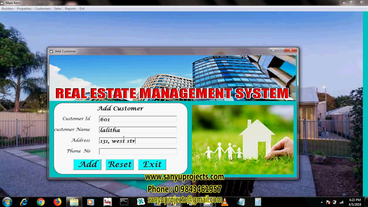 Real Estate Management System VB MS Access PROJECT