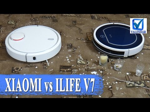 Смотреть Уборка Xiaomi Mi Robot Vacuum против Chuwi ILIFE V7 кто убирает лучше - тестовое сравнение онлайн