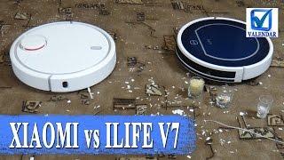 Уборка Xiaomi Mi Robot Vacuum против Chuwi ILIFE V7 кто убирает лучше - тестовое сравнение