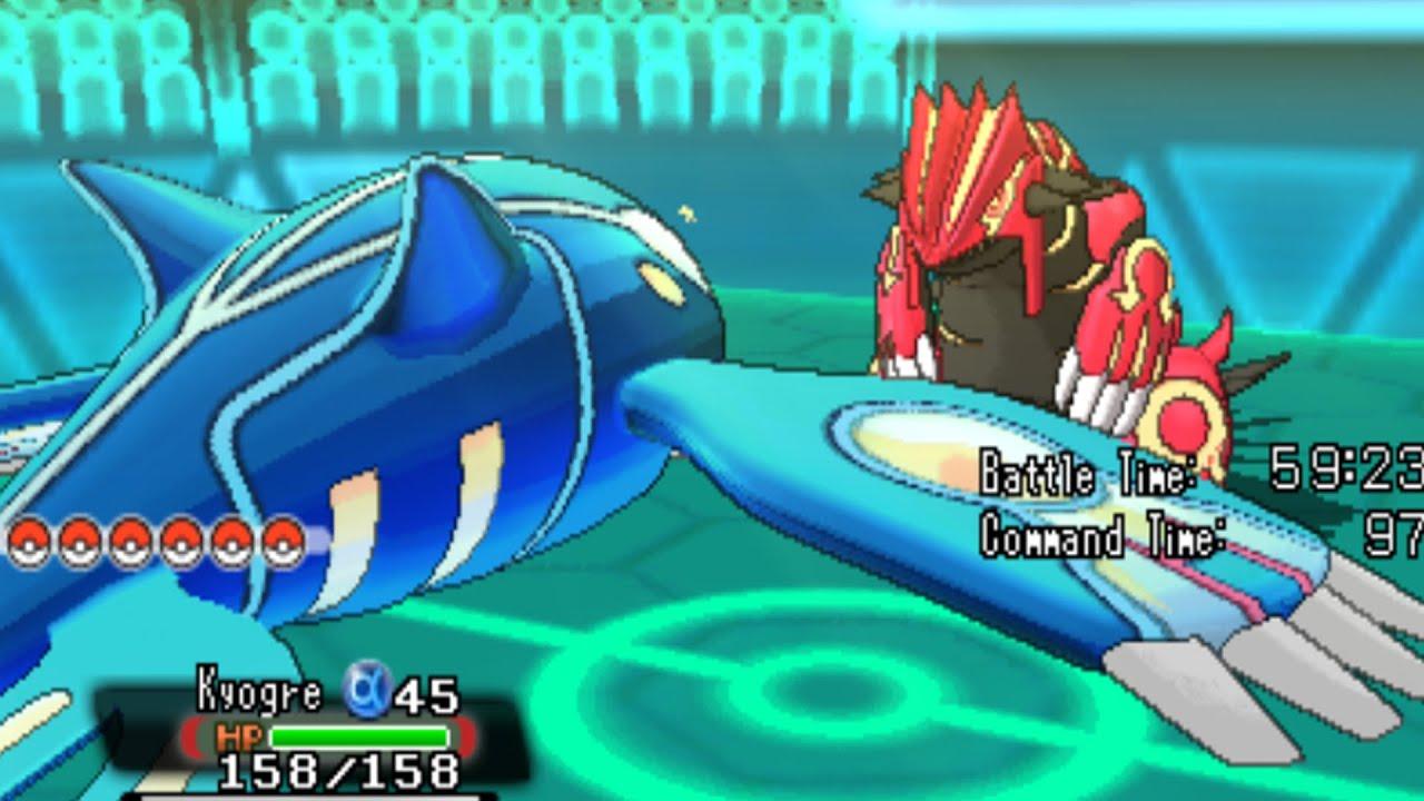 Primal Kyogre Vs Primal Groudon Pokemon Omega Ruby And Alpha Sapphire  Primal Kyogre Vs Primal