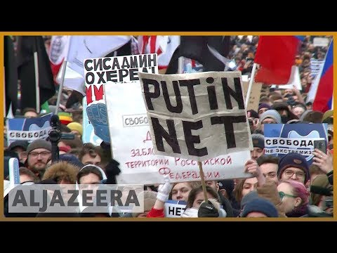 🇷🇺 Russia's internet control bill triggers protests | Al Jazeera English