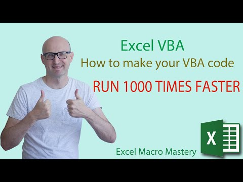 How to make your Excel VBA code run 1000 times faster.
