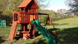 Backyard Discovery Cedar Swing Set / Play House Assembly / Installation Tips and Tricks