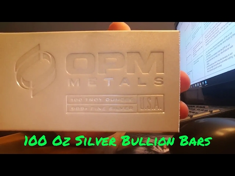 Advantages & Disadvantages of Owning 100 oz Silver Bullion Bars As Seen On Fox News and Alex Jones!