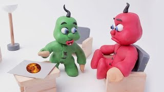KIDS PLAY SPACE MISSION - CLAY & PLAY DOH CARTOONS FOR KIDS