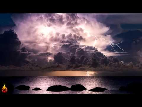 1 Hour Ocean Thunderstorm Sounds | Rain Sounds, Wave Sounds, Nature Sounds ♫386