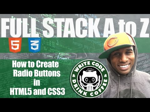 Learning HTML5 and CSS3 for beginners, How to create Radio Buttons and check boxes in HTML5 and CSS3