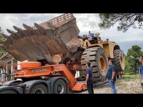 Transporting The Huge Caterpillar 992G Wheel Loader (700 Km Trip) Sotiriadis/Labrianidis Mining