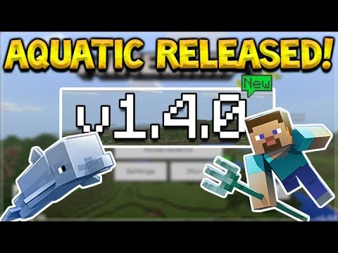 NEW MCPE 1.4.0 UPDATE! Minecraft Pocket Edition - AQUATIC UPDATE Released!! Download Now!