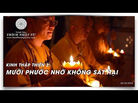 Kinh Thập Thiện 02: Mười phước nhờ không sát hại (25/03/2012) Thích Nhật Từ