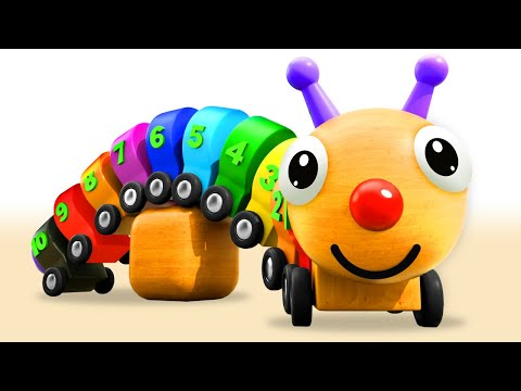 Learning Numbers & Colors For Children With Wooden Caterpillar Toy | Tino - Toddlers Educational
