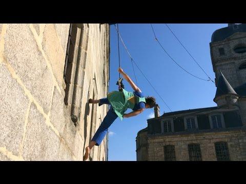 Spectale de danse verticale aux Échappées belles