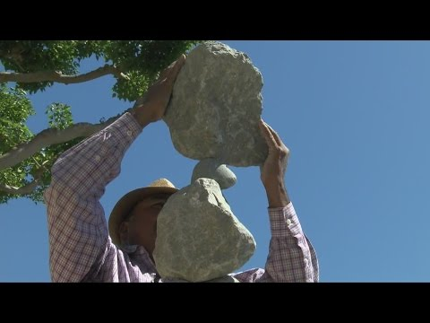 Reiki Master Balancing Rocks at Seaport Village  #MySanDiego