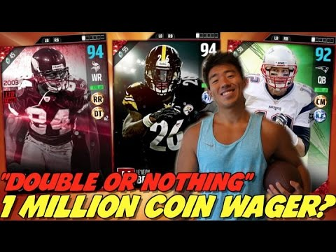 1 MILLION COIN WAGER!? DOUBLE OR NOTHING!? MADDEN 17 ULTIMATE TEAM