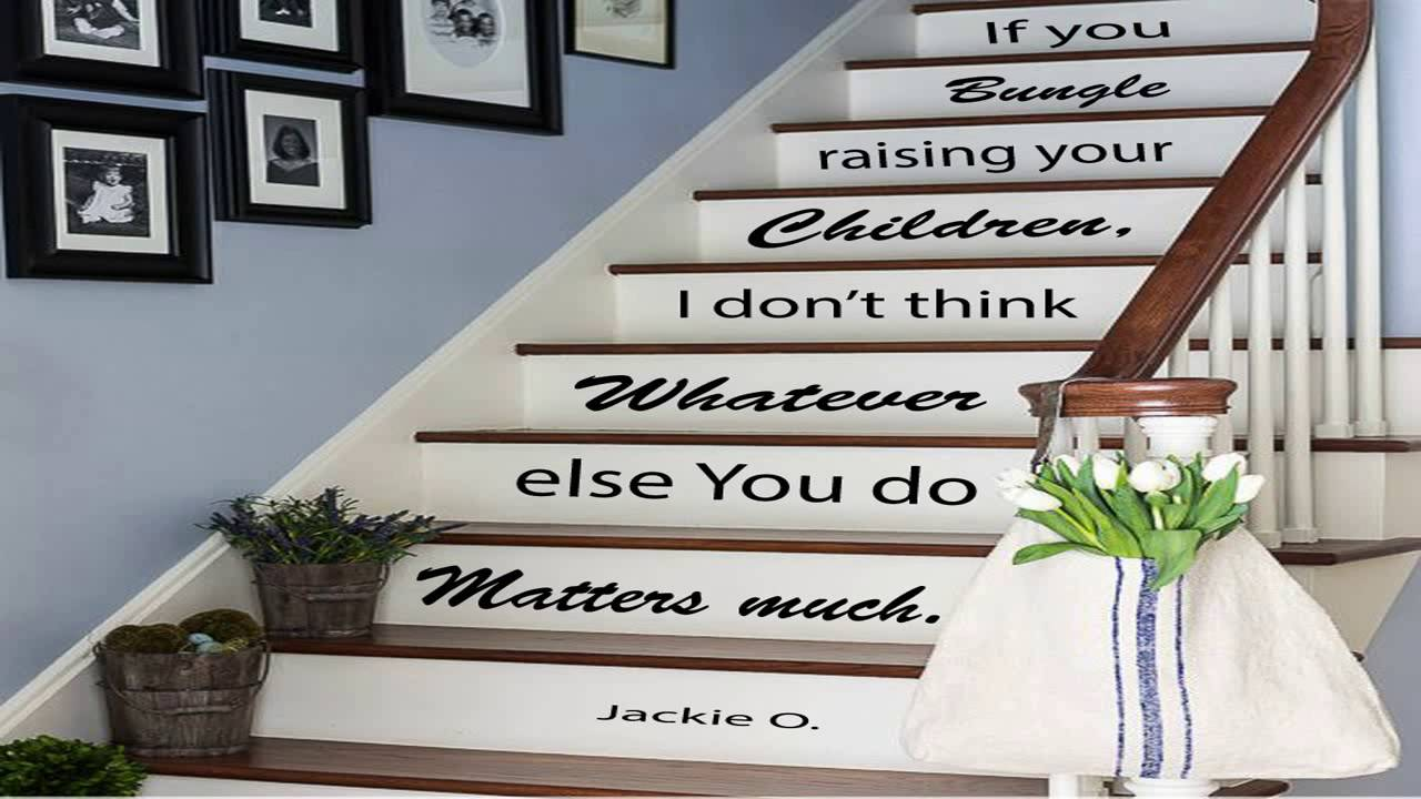 Wall Decals Staircase Quotes In This House... We Love