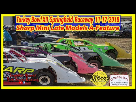 Mini Late Models - A-Feature - Turkey Bowl XII Springfield Raceway 11-17-2018