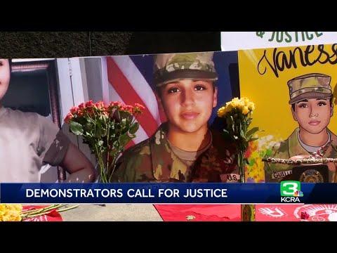 Dozens gather in Sacramento for Vanessa Guillen protest