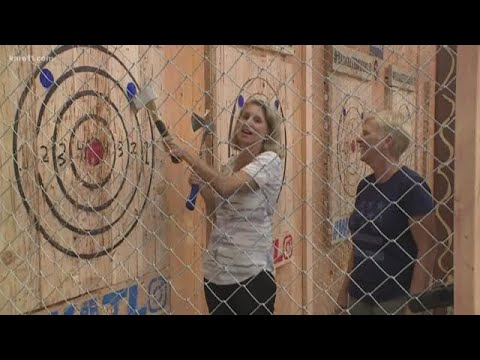 Try your hand at urban axe throwing