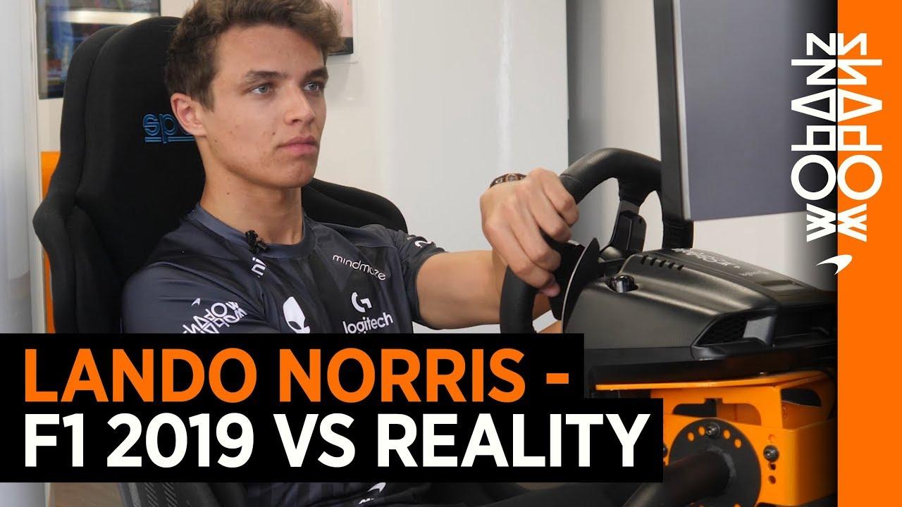 Download Lando Norris - F1 2019 vs reality
