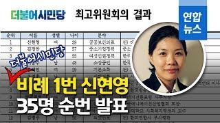 더불어시민당 비례대표 35명 발표...1번