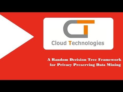 A Random Decision Tree Framework For Privacy Preserving Data Mining