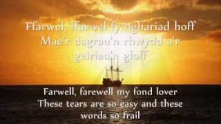 Can y Llong - Gwyneth Glyn (geiriau / lyrics)