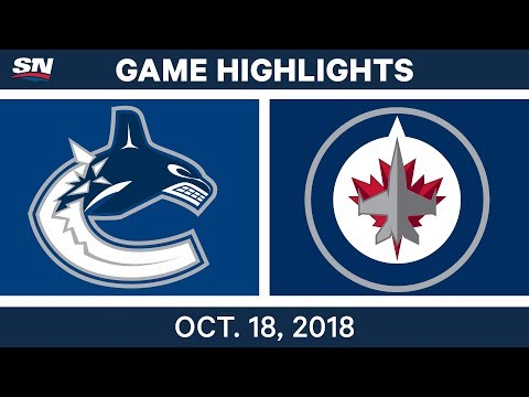NHL Highlights | Canucks vs. Jets - Oct. 18, 2018