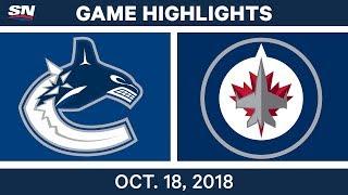 NHL Highlights | Canucks vs. Jets - Oct. 18, 2018