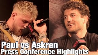 Highlights: Jake Paul embarrasses himself against Ben Askren | press conference highlights