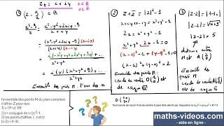 ensemble des points M (complexes) -TleS-