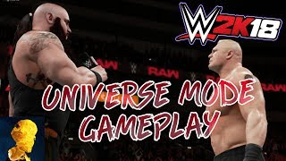 WWE 2K18 Universe Mode Gameplay - New Promo System