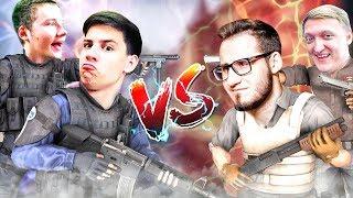 HYPER и EXILE vs. COFFI и WARPATH В КС:ГО! (CS:GO Смешные Моменты)