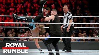 AJ Styles hits an amazing Pelé Kick on Kevin Owens: Royal Rumble 2018 (WWE Network Exclusive)