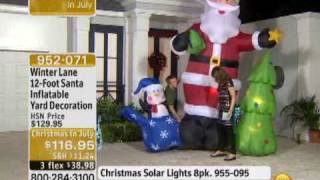 12-foot Santa Inflatable Yard Decoration From Winter Lane