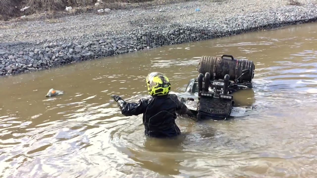 Утопили Suzuki KingQuad 750