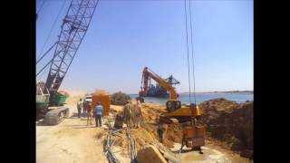 new Suez Canal: the first day of dredging in the channel and intimidation Mshahurogustus 2014