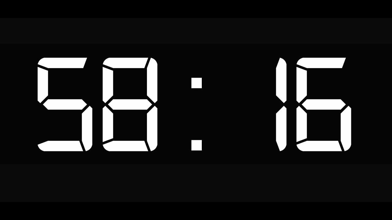 60 Sec Countdown 4k Resolution Classic 1 V 1 Simple