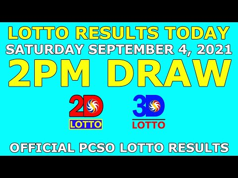 2pm Lotto Result September 4 2021 (Saturday) PCSO Today