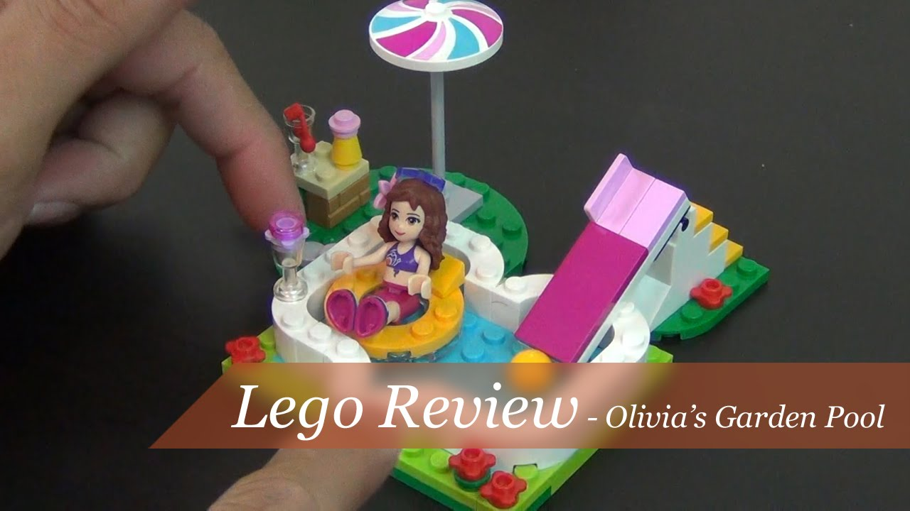 Review lego friends olivia 39 s garden pool set 41090 for Lego friends olivia s garden pool 41090